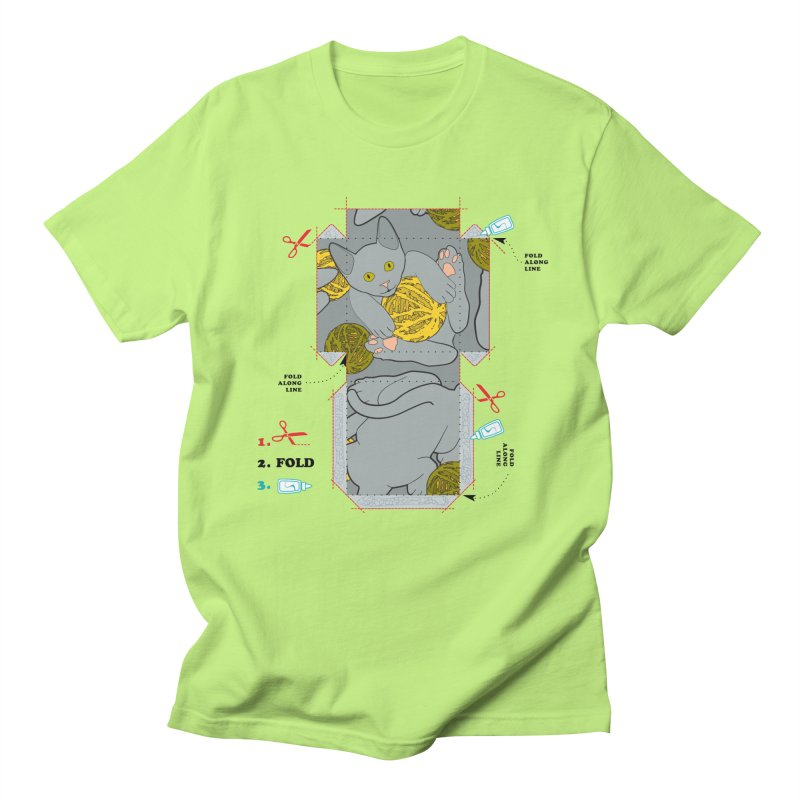 A Cat Above Men's T-Shirt by Half Moon Giraffe