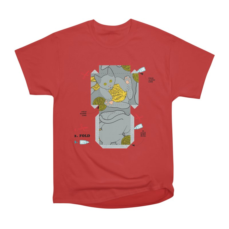 A Cat Above Men's Heavyweight T-Shirt by Half Moon Giraffe