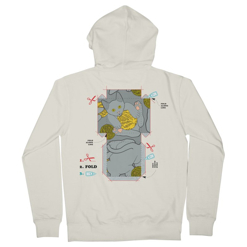 A Cat Above Women's French Terry Zip-Up Hoody by Half Moon Giraffe