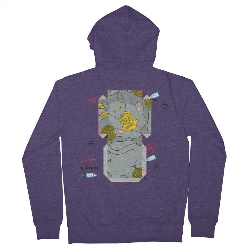 A Cat Above Men's French Terry Zip-Up Hoody by Half Moon Giraffe