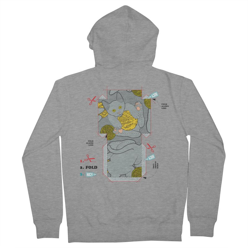 A Cat Above Men's Zip-Up Hoody by Half Moon Giraffe