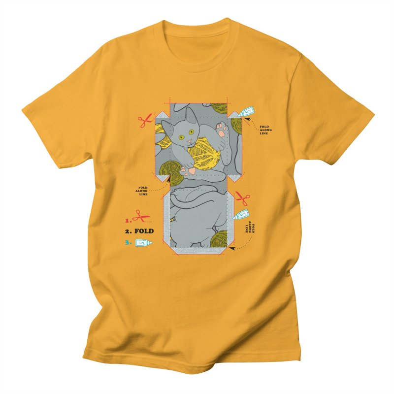 A Cat Above in Men's Regular T-Shirt Gold by Half Moon Giraffe
