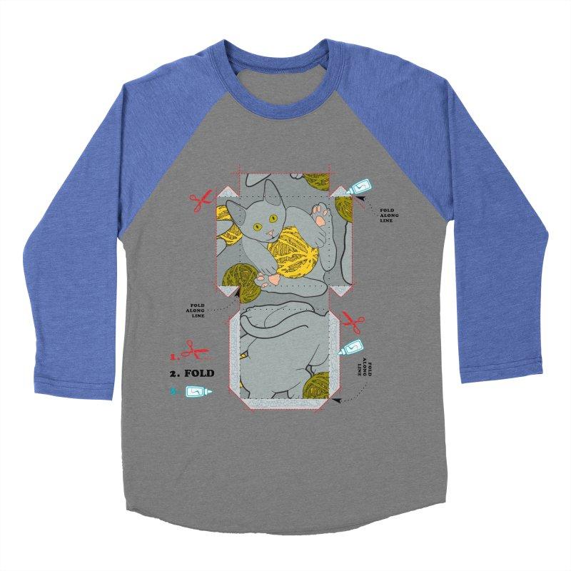 A Cat Above Women's Baseball Triblend Longsleeve T-Shirt by Half Moon Giraffe