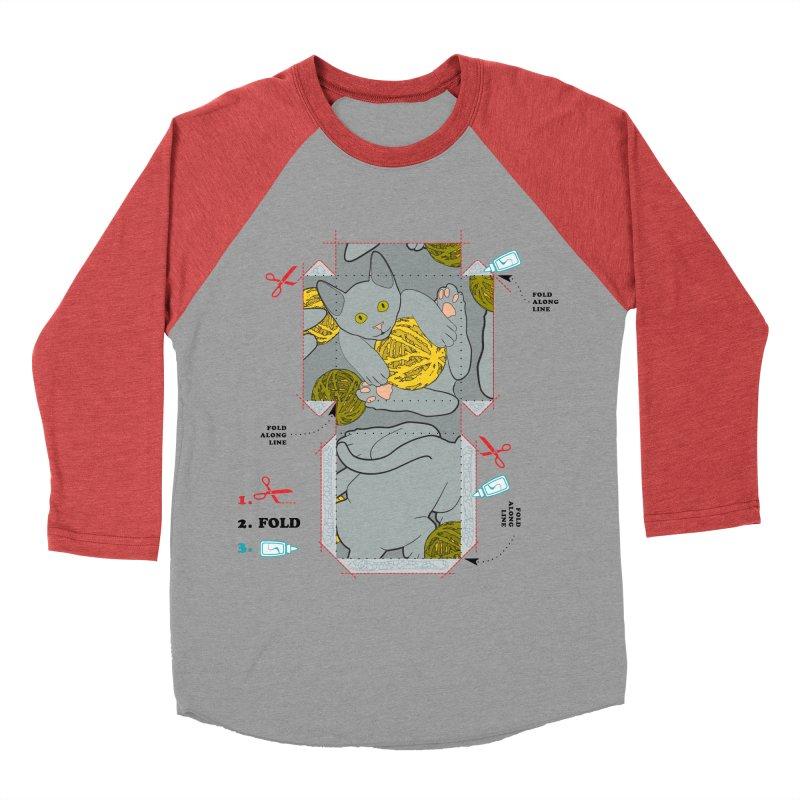 A Cat Above Men's Baseball Triblend Longsleeve T-Shirt by Half Moon Giraffe