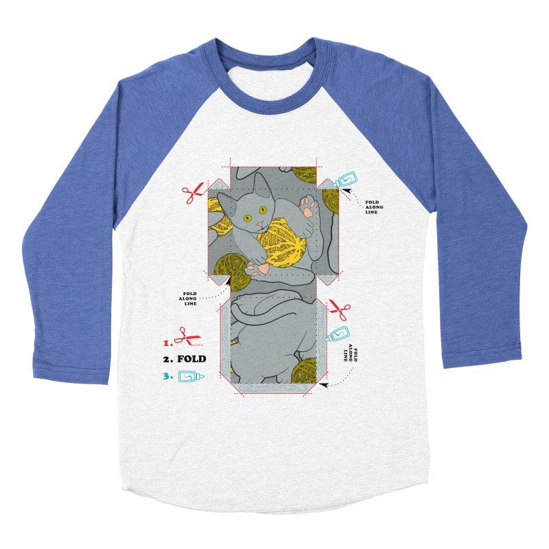 A Cat Above Men's Baseball Triblend T-Shirt by Half Moon Giraffe