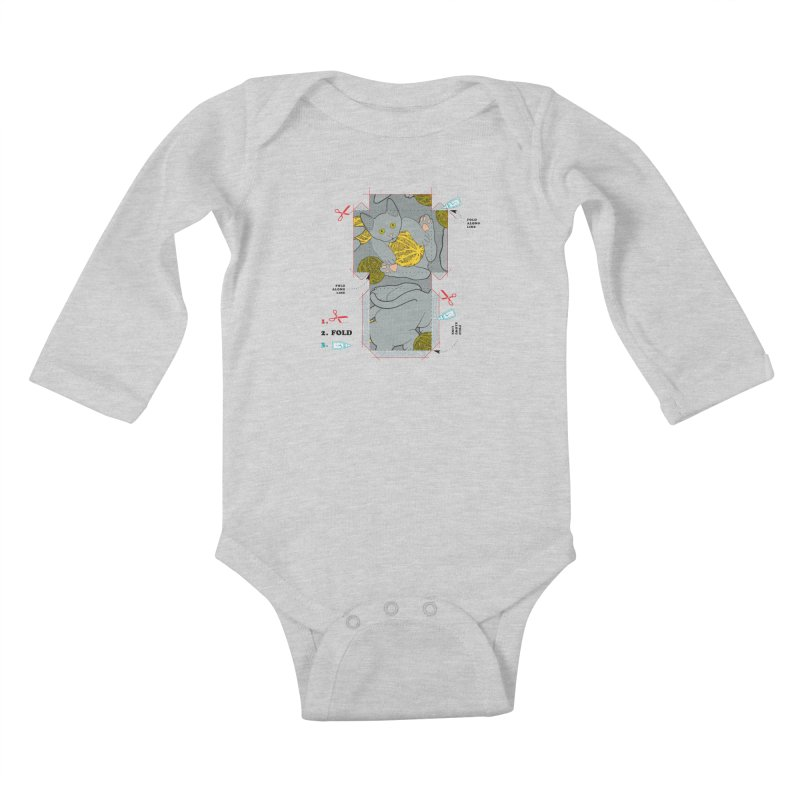 A Cat Above Kids Baby Longsleeve Bodysuit by Half Moon Giraffe