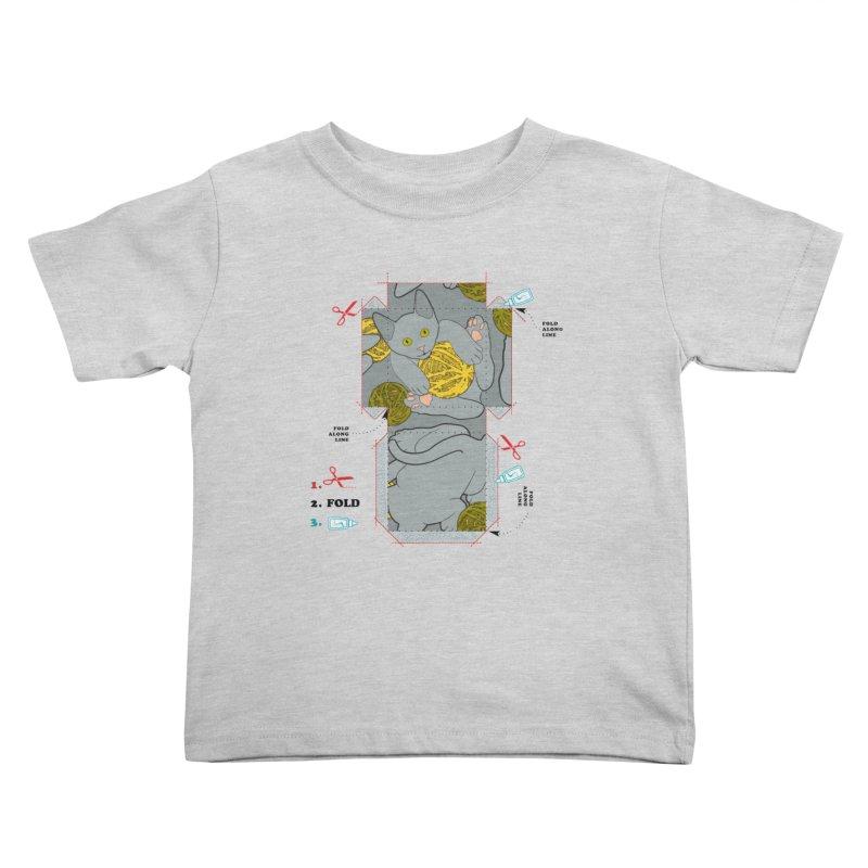 A Cat Above Kids Toddler T-Shirt by Half Moon Giraffe
