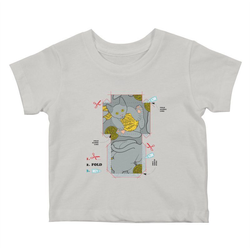 A Cat Above Kids Baby T-Shirt by Half Moon Giraffe