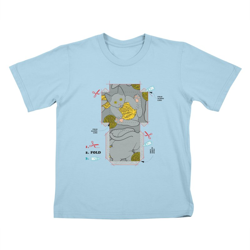 A Cat Above Kids T-Shirt by Half Moon Giraffe