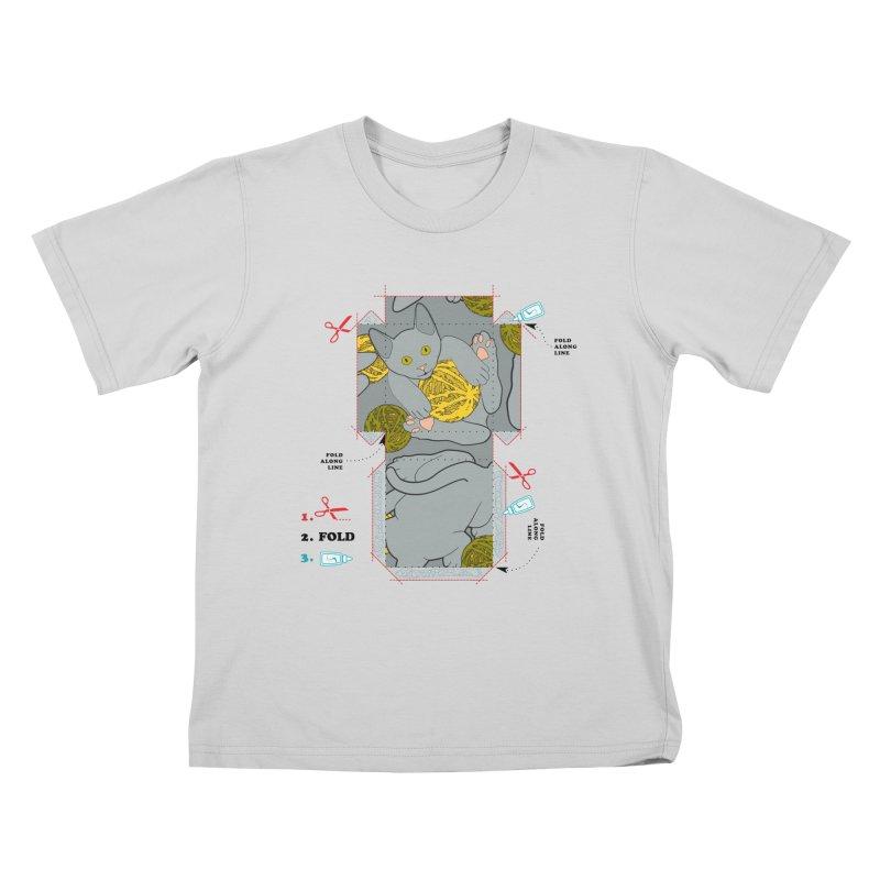 A Cat Above Kids T-Shirt by Half Moon Giraffe