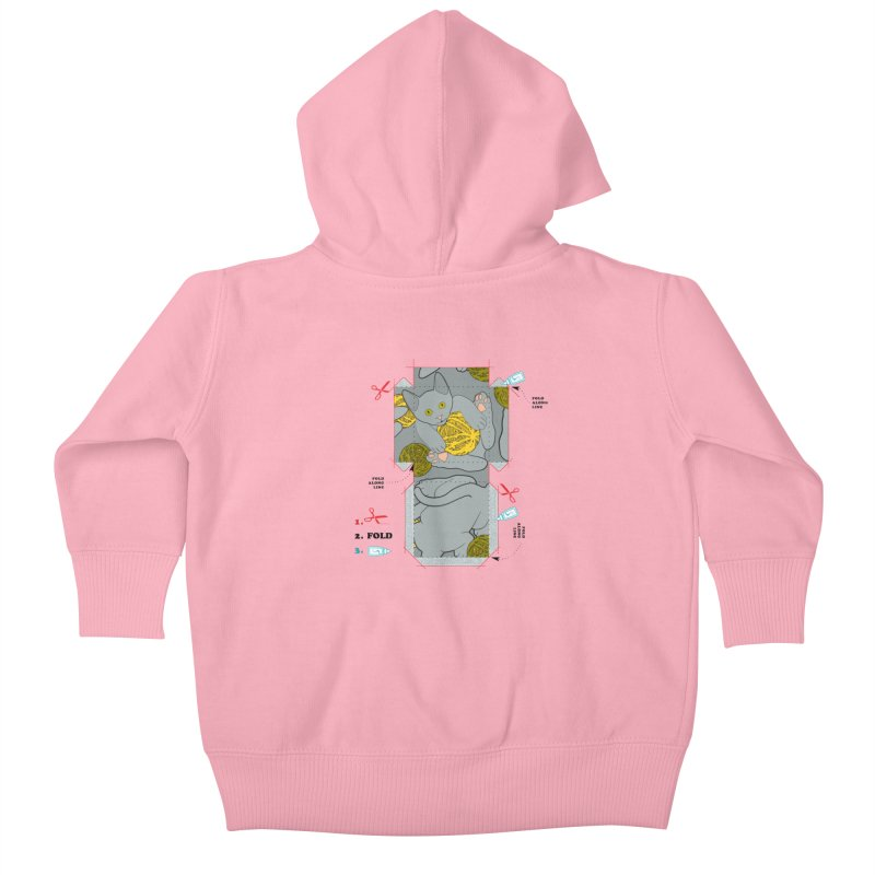 A Cat Above Kids Baby Zip-Up Hoody by Half Moon Giraffe