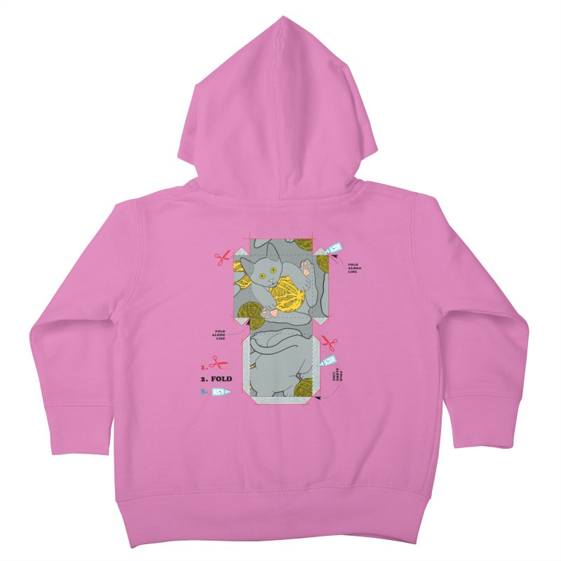 A Cat Above Kids Toddler Zip-Up Hoody by Half Moon Giraffe