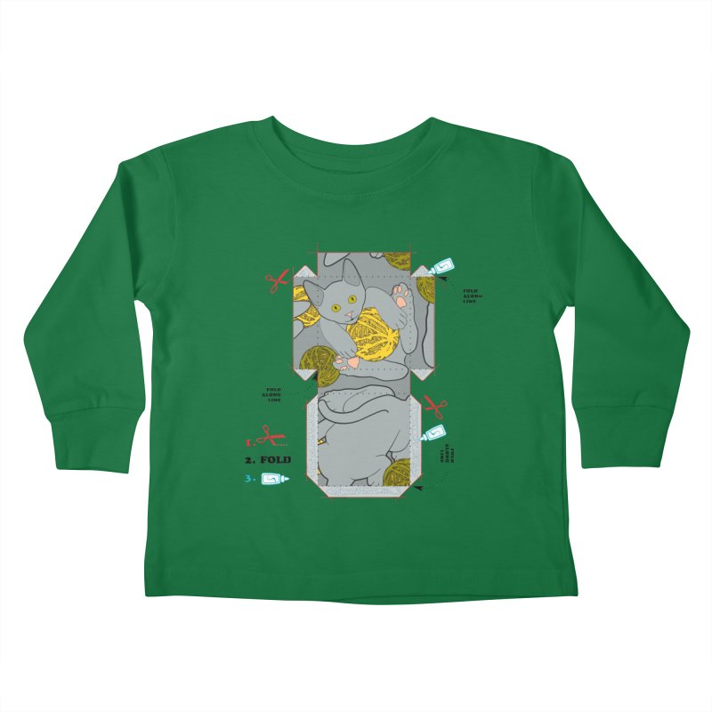 A Cat Above Kids Toddler Longsleeve T-Shirt by Half Moon Giraffe