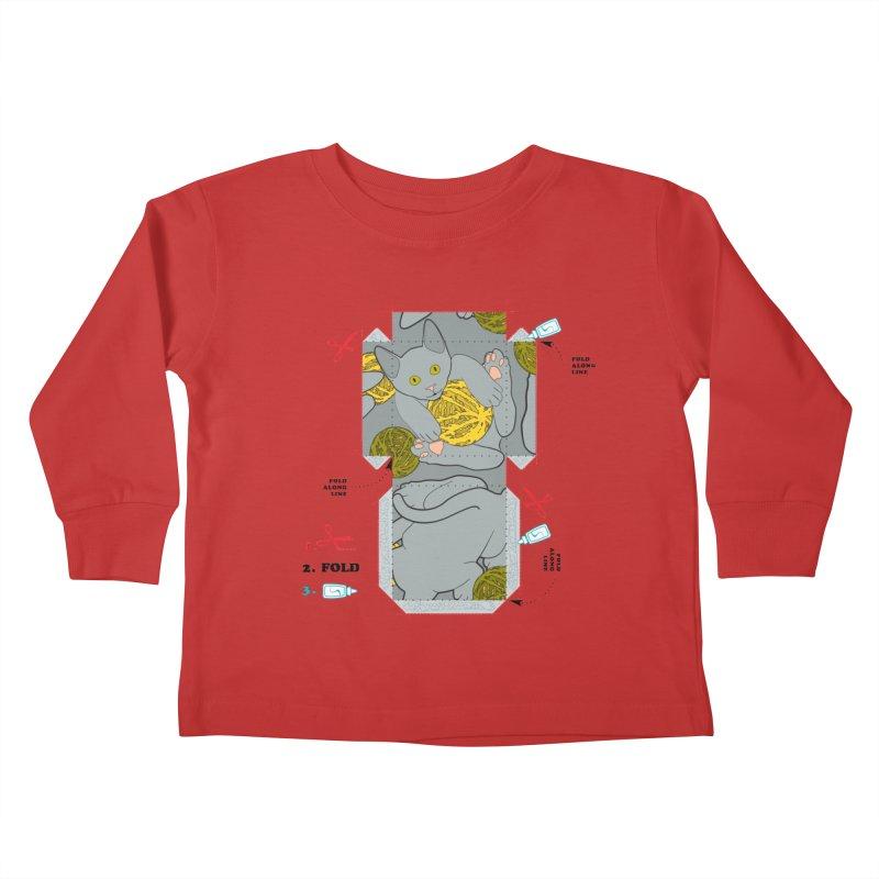 A Cat Above Kids Toddler Longsleeve T-Shirt by Half Moon Giraffe