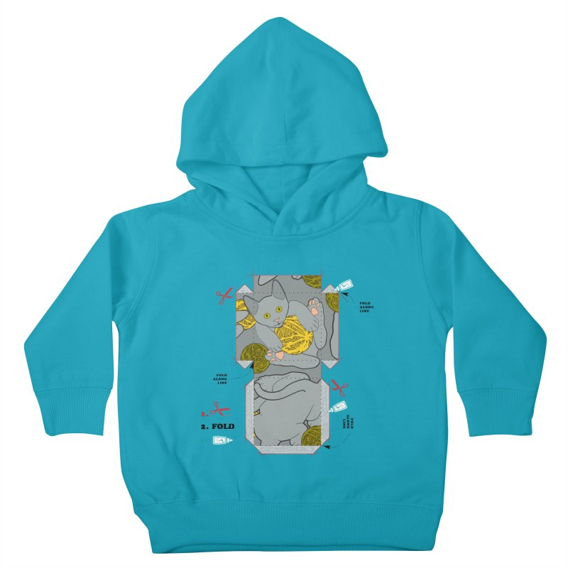 A Cat Above Kids Toddler Pullover Hoody by Half Moon Giraffe