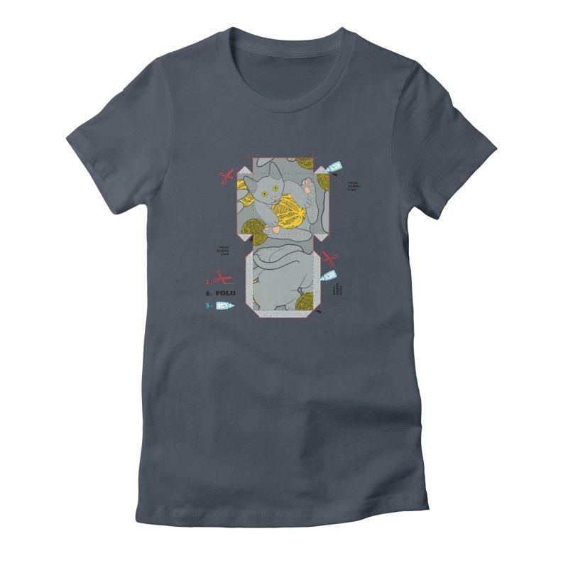 A Cat Above Women's T-Shirt by Half Moon Giraffe