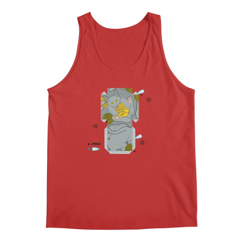 A Cat Above Men's Regular Tank by Half Moon Giraffe