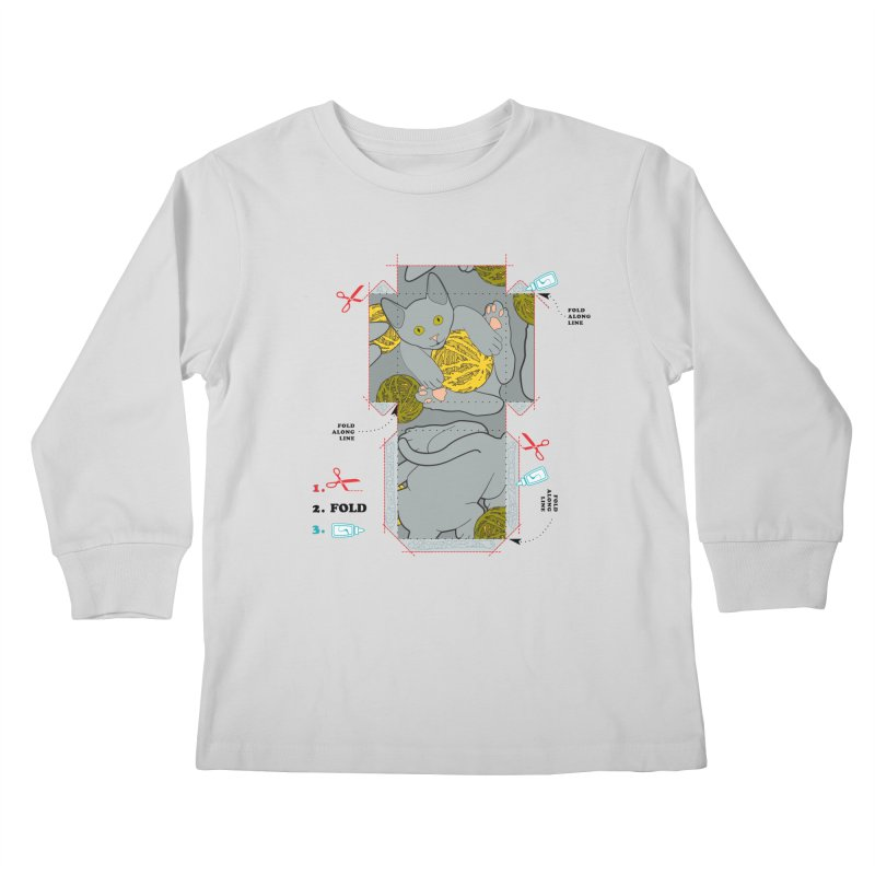 A Cat Above Kids Longsleeve T-Shirt by Half Moon Giraffe