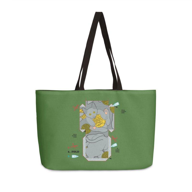 A Cat Above Accessories Weekender Bag Bag by Half Moon Giraffe