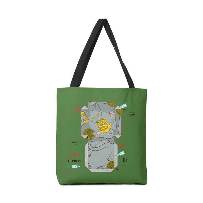 A Cat Above Accessories Tote Bag Bag by Half Moon Giraffe