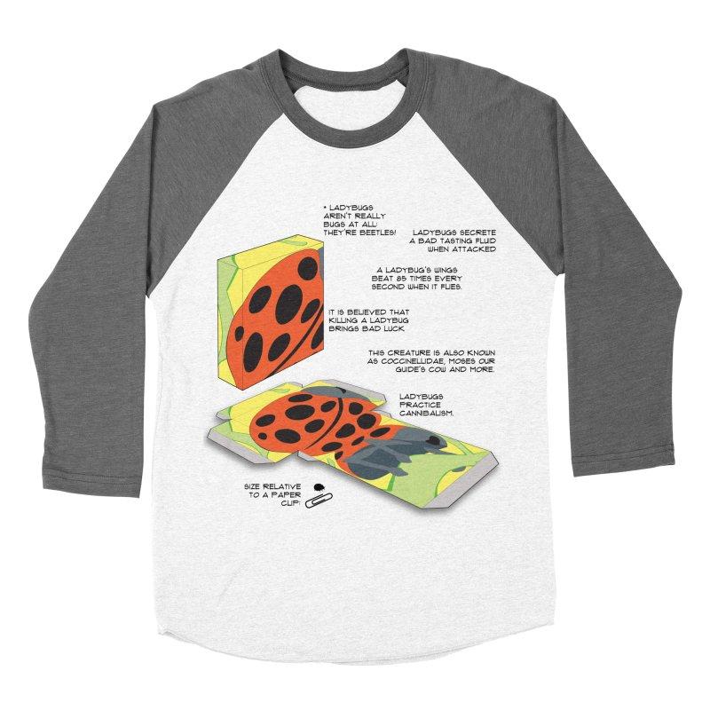 LadyBox Men's Baseball Triblend T-Shirt by Half Moon Giraffe