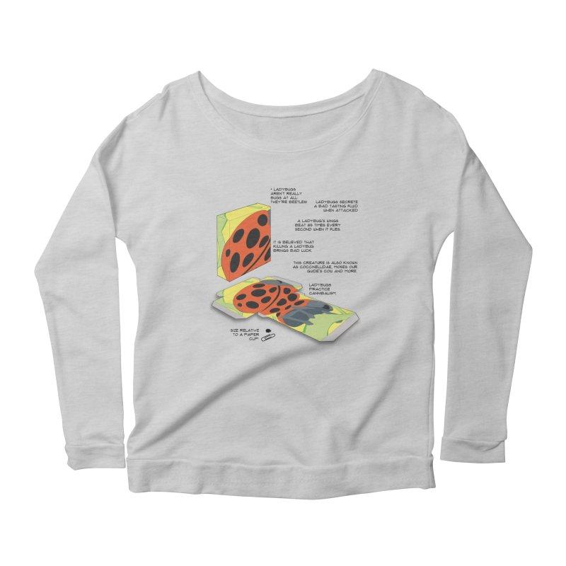 LadyBox Women's Scoop Neck Longsleeve T-Shirt by Half Moon Giraffe