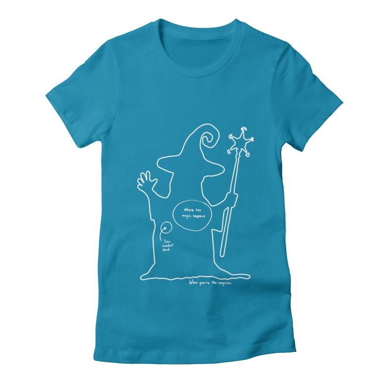 Sorcery Women's Fitted T-Shirt by Half Moon Giraffe