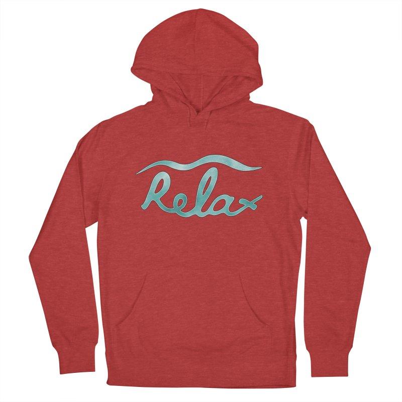 Relax Men's Pullover Hoody by Half Moon Giraffe
