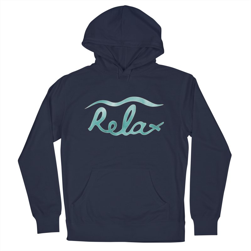 Relax Men's French Terry Pullover Hoody by Half Moon Giraffe