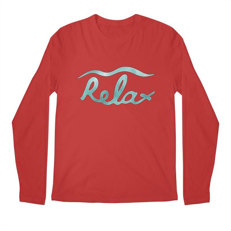 Relax Men's Regular Longsleeve T-Shirt by Half Moon Giraffe