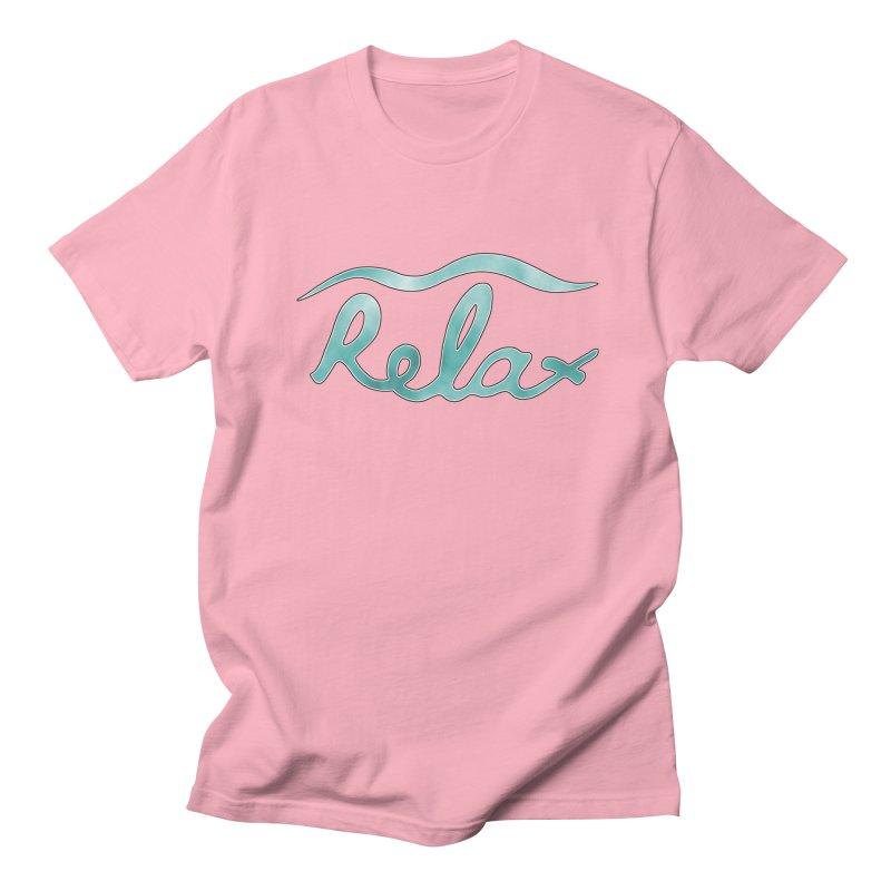 Relax Men's Regular T-Shirt by Half Moon Giraffe