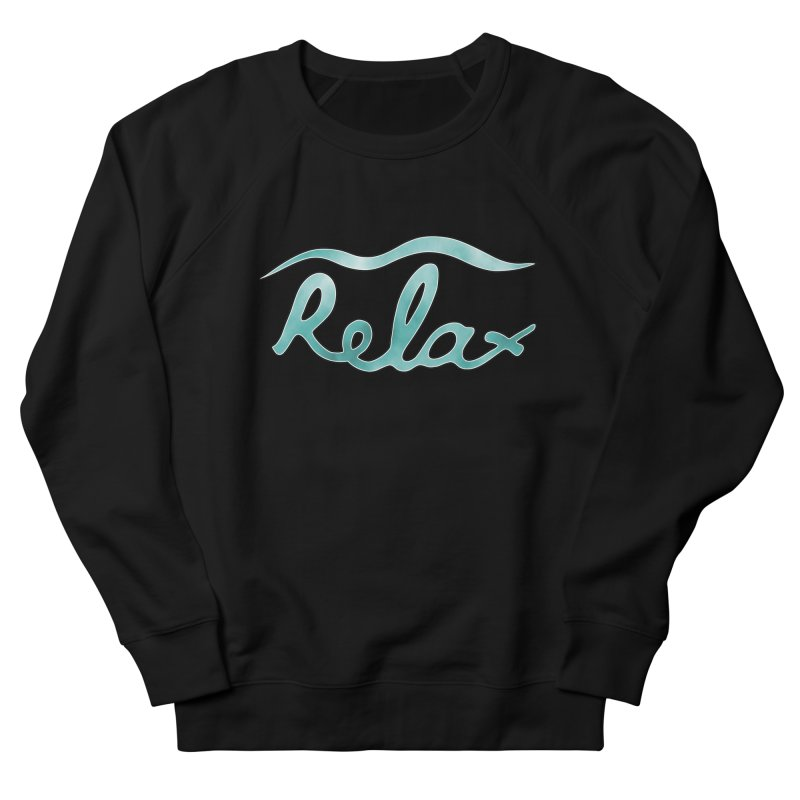 Relax Women's French Terry Sweatshirt by Half Moon Giraffe