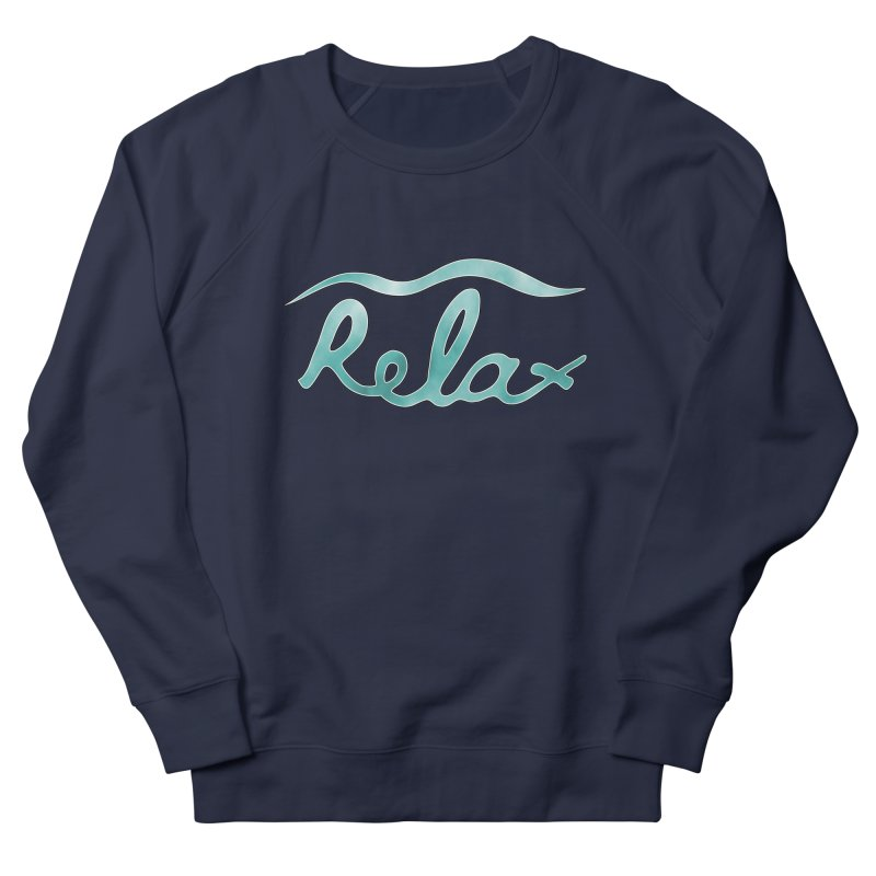 Relax Men's French Terry Sweatshirt by Half Moon Giraffe