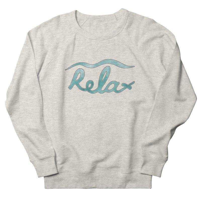 Relax Men's French Terry Sweatshirt by Half Moon Giraffe