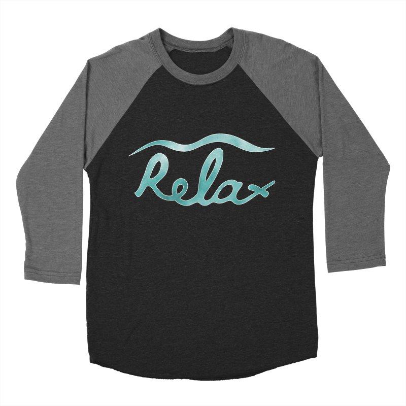 Relax Women's Baseball Triblend T-Shirt by Half Moon Giraffe