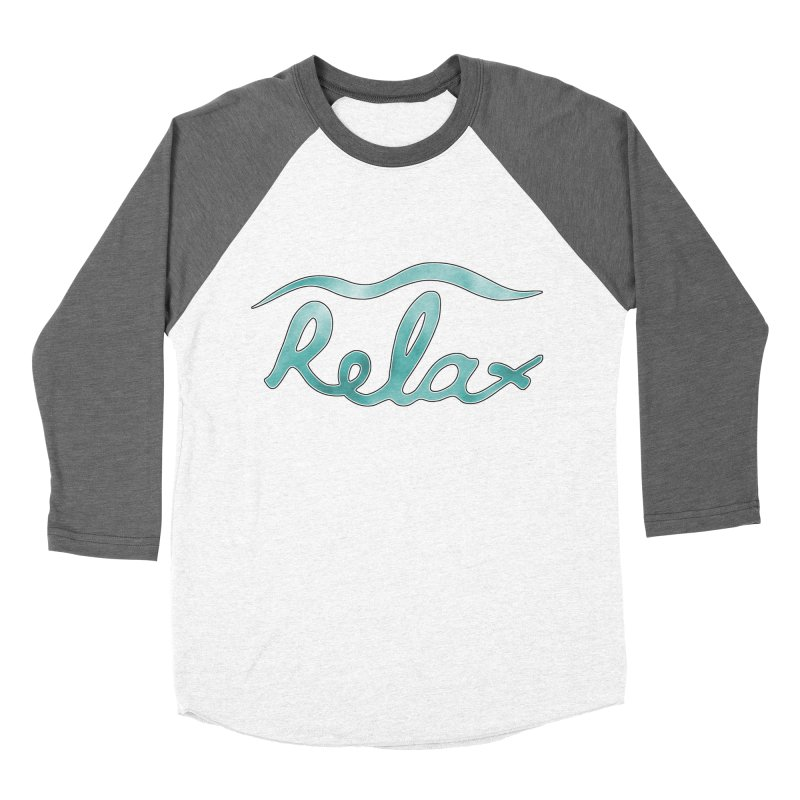 Relax Men's Baseball Triblend T-Shirt by Half Moon Giraffe