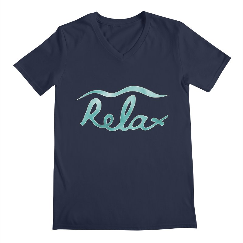Relax Men's V-Neck by Half Moon Giraffe