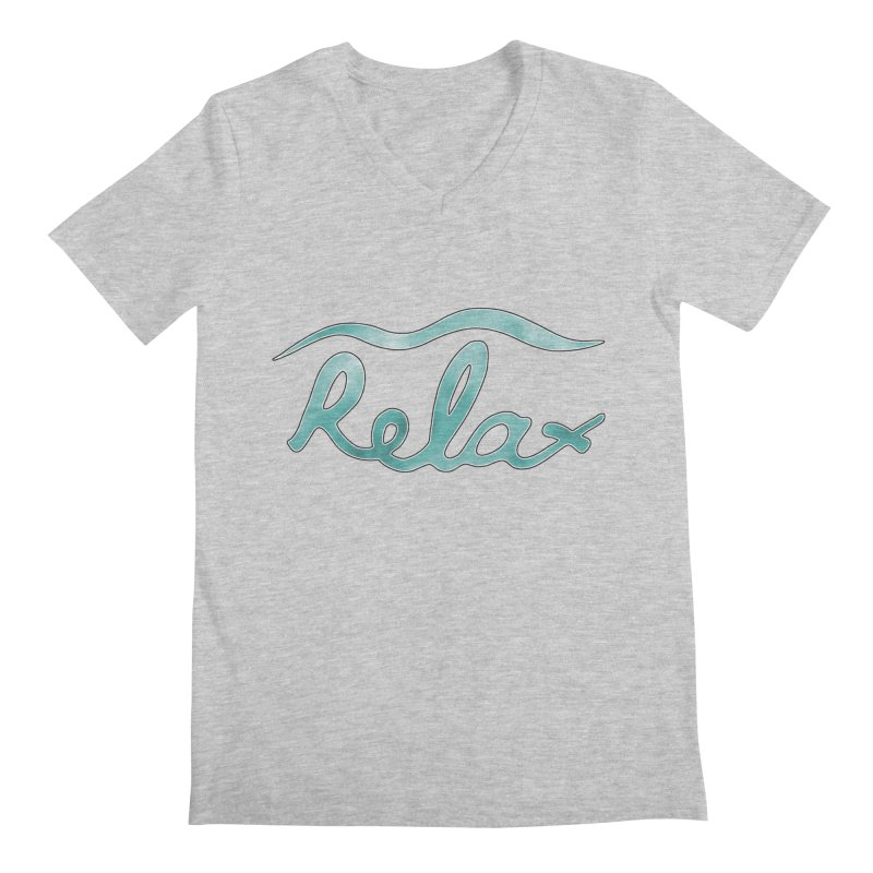 Relax Men's V-Neck by Half Moon Giraffe