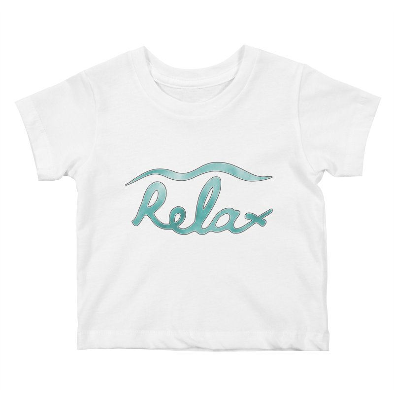 Relax Kids Baby T-Shirt by Half Moon Giraffe