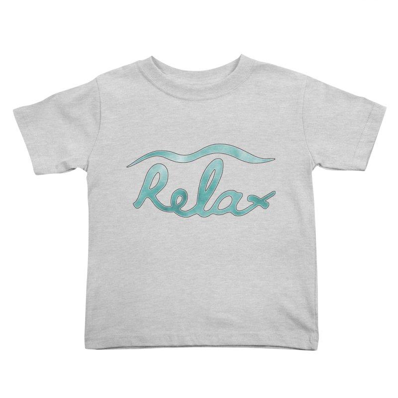 Relax Kids Toddler T-Shirt by Half Moon Giraffe