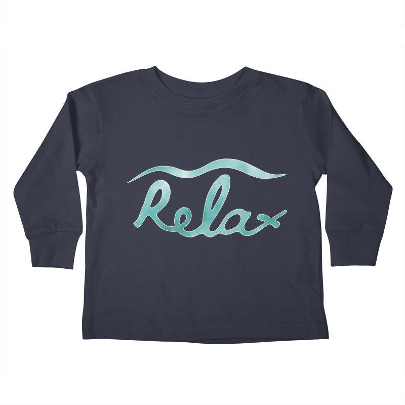 Relax Kids Toddler Longsleeve T-Shirt by Half Moon Giraffe