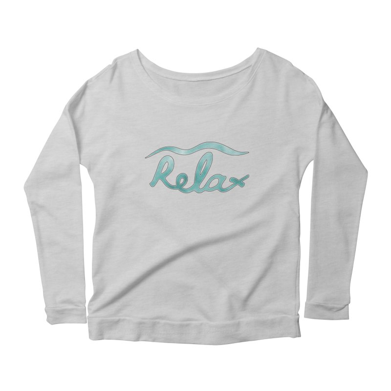 Relax Women's Scoop Neck Longsleeve T-Shirt by Half Moon Giraffe