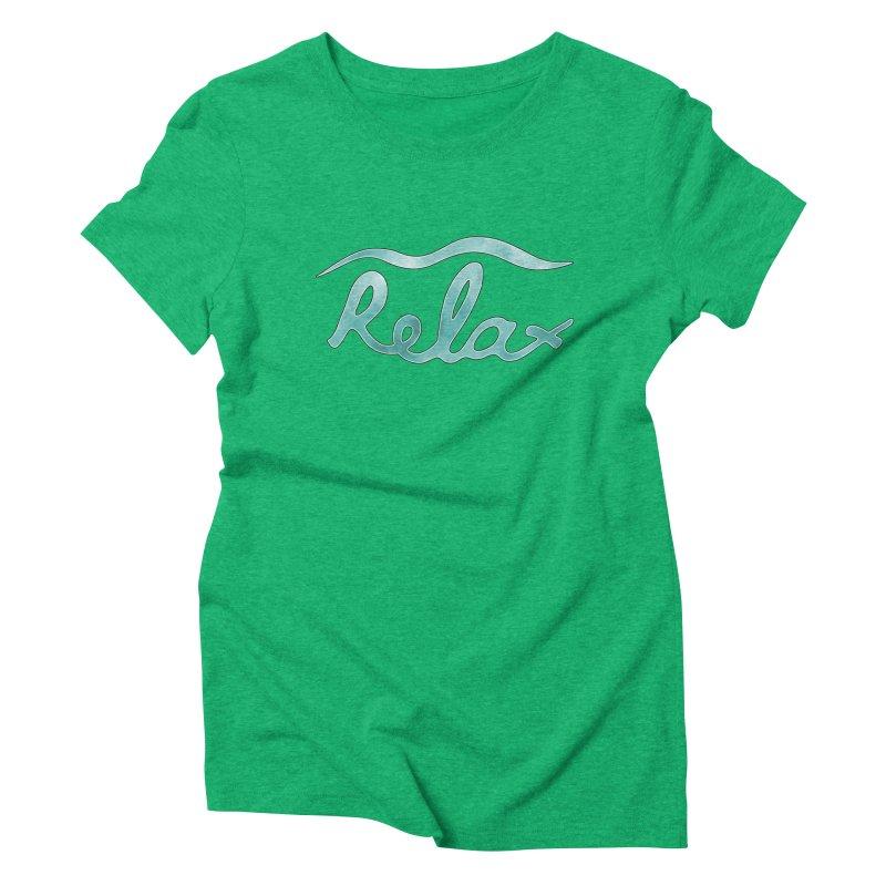 Relax Women's Triblend T-Shirt by Half Moon Giraffe