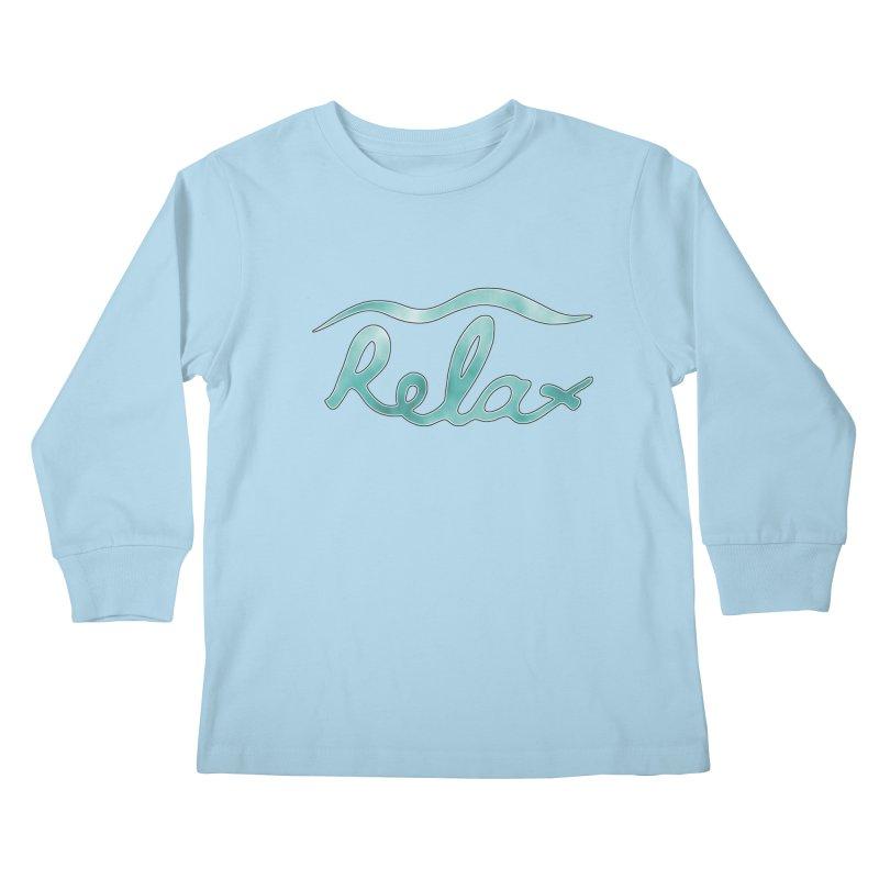 Relax Kids Longsleeve T-Shirt by Half Moon Giraffe
