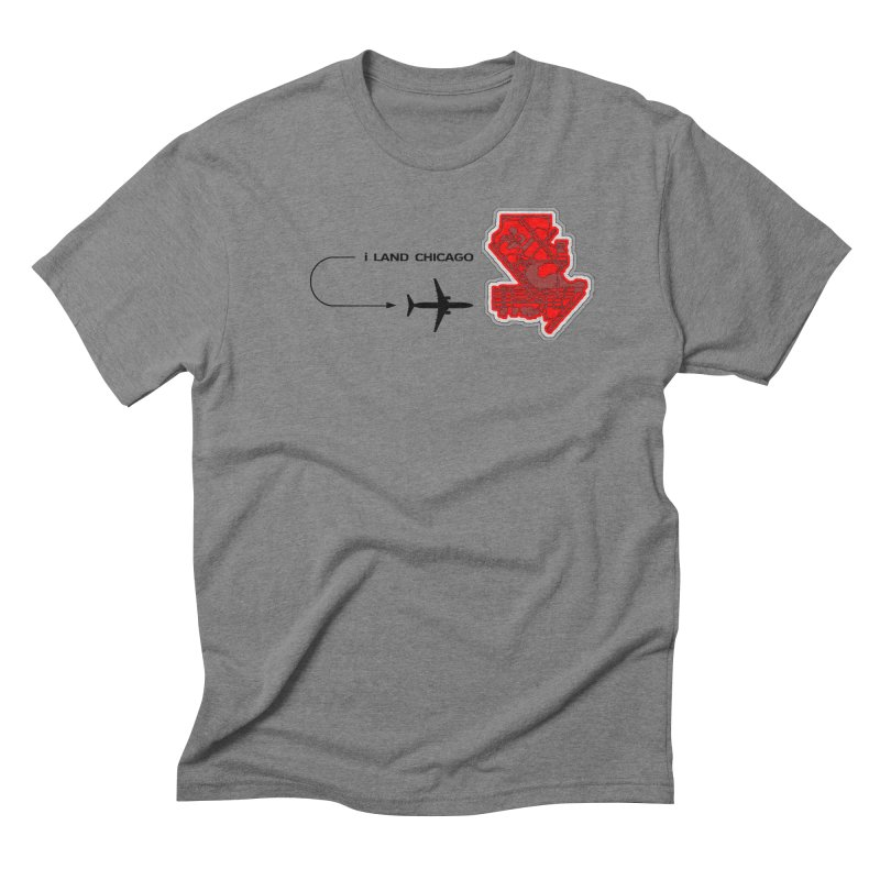 ORD i Land Men's Triblend T-Shirt by Half Moon Giraffe
