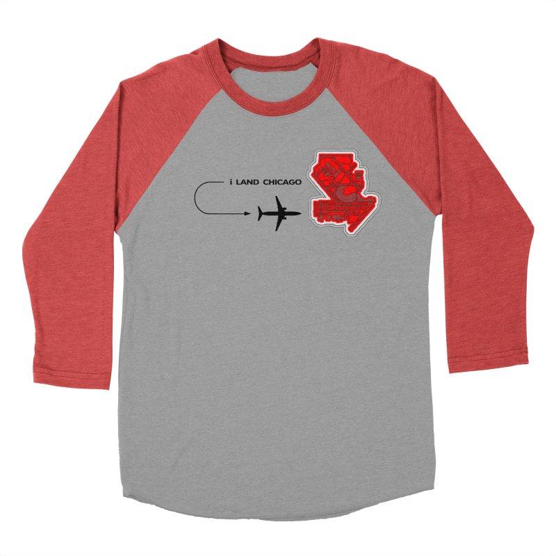 ORD i Land Men's Baseball Triblend T-Shirt by Half Moon Giraffe