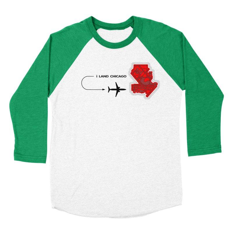 ORD i Land Men's Baseball Triblend Longsleeve T-Shirt by Half Moon Giraffe
