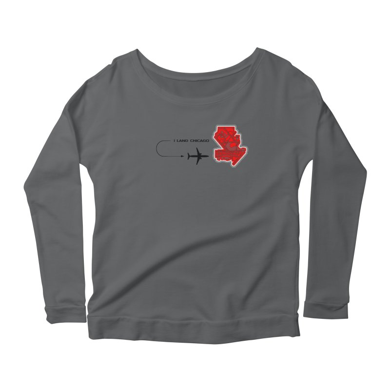ORD i Land Women's Scoop Neck Longsleeve T-Shirt by Half Moon Giraffe
