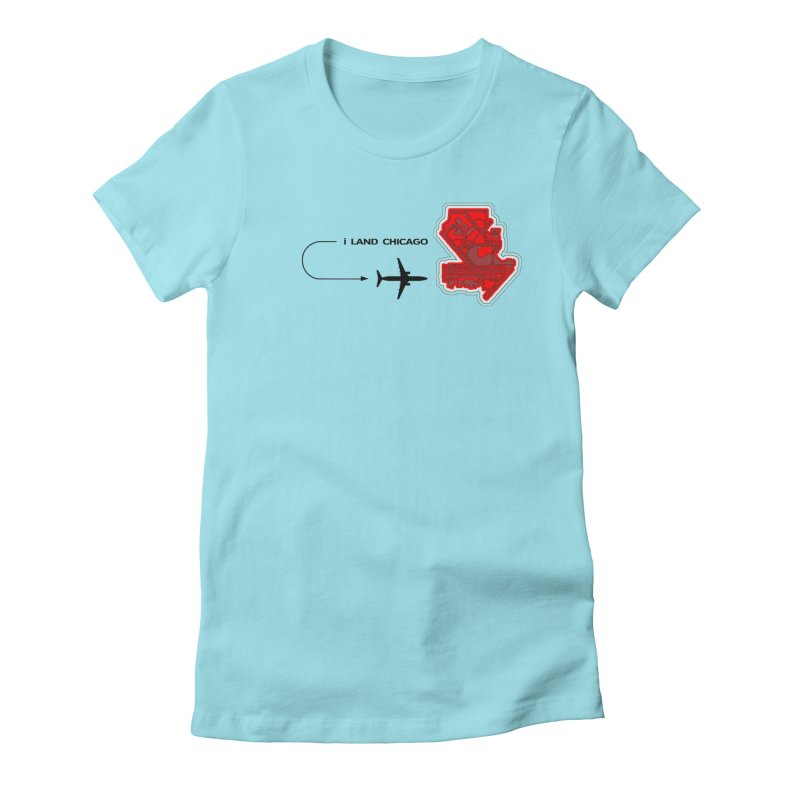 ORD i Land Women's Fitted T-Shirt by Half Moon Giraffe