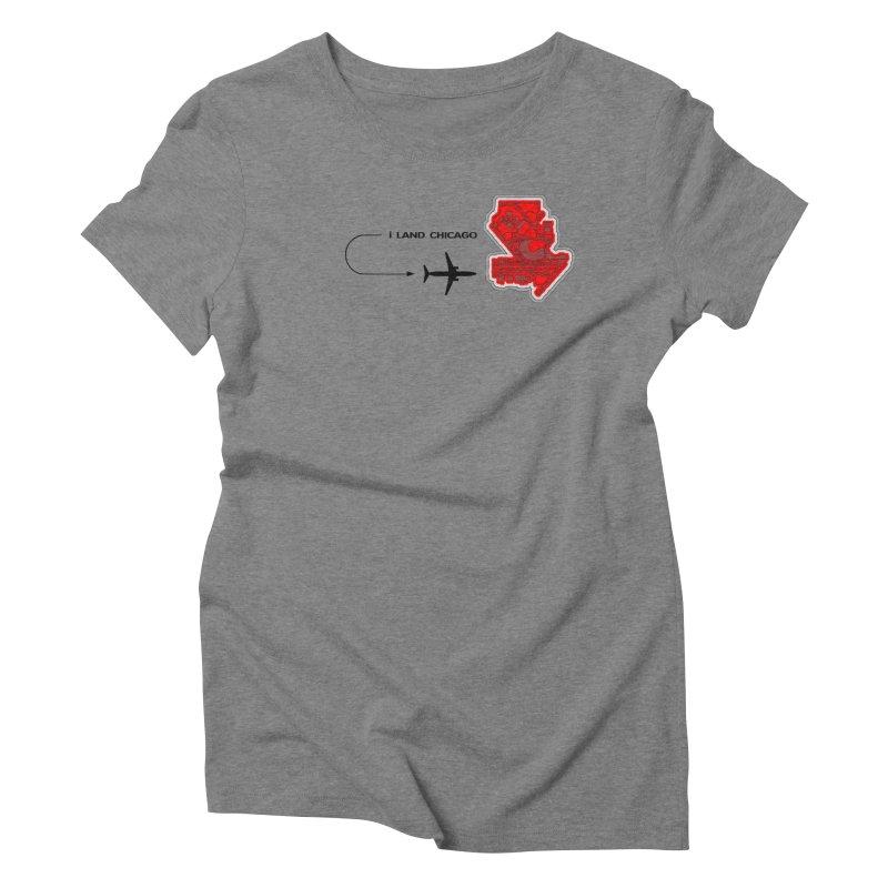ORD i Land Women's Triblend T-Shirt by Half Moon Giraffe